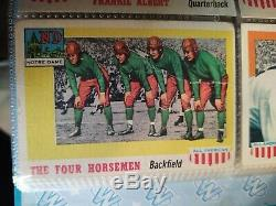 1955 Topps All American Football Near Complete Set with Four Horsemen Card
