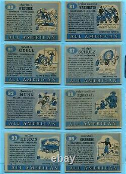 1955 Topps All-American Partial Set Lot of 52 Different Football Cards Low Grade