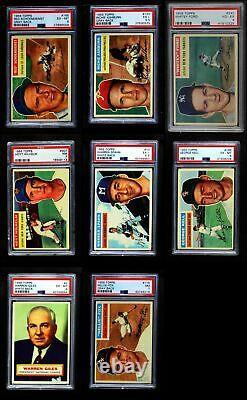 1956 Topps Baseball All-PSA Near Set / Lot 6 EX/MT