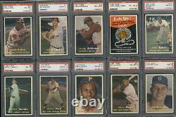 1957 Topps Baseball Complete Set All PSA Graded Avg PSA 8 Mays Mantle Aaron