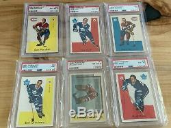 1959-60 Parkhurst Hockey Card Set (50), All Graded PSA, Avg. 7.475, High Grade