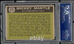 1961 TOPPS HI #578 MICKEY MANTLE ALL STAR NY Yankees High Grade Set Break PSA 8
