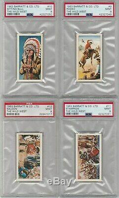 1963 Barratt The Wild West (complete Set Of 25 Cards) All Psa Graded