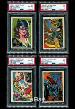 1966 Batman A&bc Black Bat Fan Club Complete Set 55/55 All Psa
