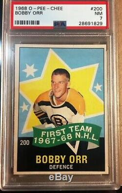 1968 OPC Hockey Partial Set (127 Total Cards ALL PSA 7 NM)