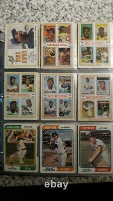1974 Topps Baseball Complete Set+ All Traded+team Checklists In Pages New Binder