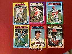 1975 Topps Baseball Partial Complete Set / Lot 340/660 all diff. Ex-Exmt Cards