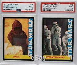 1977 Star Wars Wonder Bread Complete Mint Set All 16 Cards Graded Psa 9