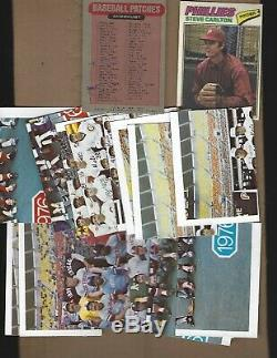 1977 Topps Cloth Complete Set With All Puzzle Pieces Near Mint +