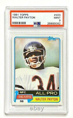 1981 Topps WALTER PAYTON #400 All Pro PSA 9 Mint! Well Centered! Iconic Set
