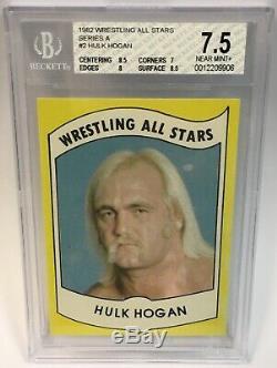 1982 Wrestling All Stars Hulk Hogan Rookie #2 BGS 7.5 Hulkamania High Grade WWE