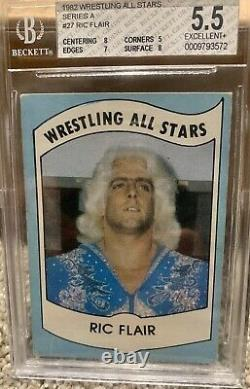 1982 Wrestling All Stars Ric Flair Rookie #27 BGS 5.5 High Grade WWE Nature Boy