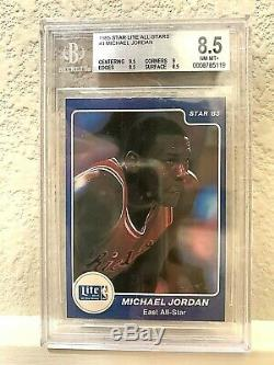 1985 Star Lite All Stars COMPLETE SET with MICHAEL JORDAN BGS 8.5 NMMT+ (3) 9.5'S