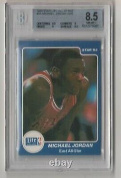 1985 Star Lite All Stars Set Michael Jordan #4 Bgs 8.5 Magic Bird Erving