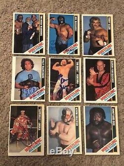 1985 Wrestling All Stars Signed Autographed (54) Card Set Hogan, Ventura, Lawler