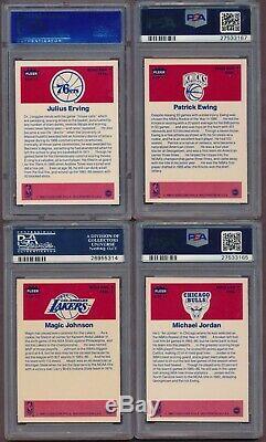 1986-87 Fleer Basketball Sticker Set 1-11 ALL PSA 9 with Michael Jordan