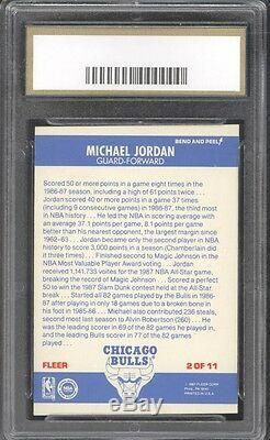 1987 Fleer #2 Sticker + COMPLETE SET Michael Jordan ALL GRADED GEM MINT 10