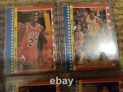 1987 Fleer Basketball Set With Stickers 1-11, full set all stickers, 2 Jordan