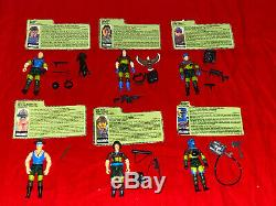 1989 Gi Joe Slaughters Marauders Set Of 6 All 100% Complete With File Cards