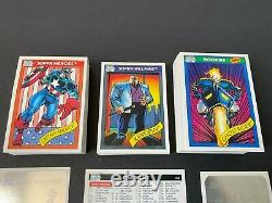 1990 Marvel Impel SERIES I Complete Master Card Set of 162 with all 5 HOLOGRAMS