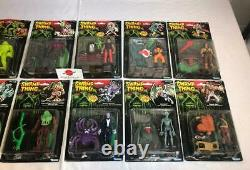 1990 Swamp Thing MOC Carded Complete Set Of All 12 Figures Kenner NEW