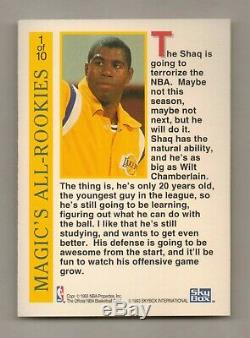 1992-93 Hoops MAGIC'S ALL ROOKIE TEAM Insert Set (10) Shaq, Mourning Free Ship