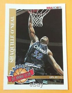 1992-93 Nba Hoops Magic's All Rookie Team Complete Set 10/10 Shaquille O'neal Rc
