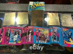 1992 Marvel X-Men Series 1 Trading Cards COMPLETE SET, 1-100 and all 5 Holograms