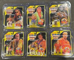 1992 WWF Hasbro MOC Yellow Card Set With Protect Cases All (6)