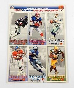 1993 McDonald's Fleer NFL Football Gameday All-Star Sheets Set Case (55 Sets)