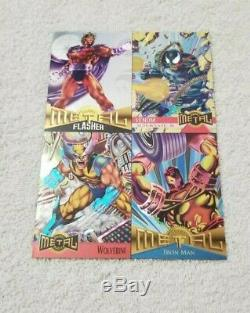 1995 Marvel Metal Inaugural Edition Master Set with All Chaser Cards + Bonus