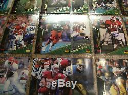 1995 signature rookies football autographed V. P. Set all cards numbered 6/7750