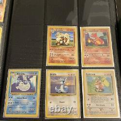 1999 Pokemon BASE SET Near Complete Non Holo Set All Cards 23-102 All good con
