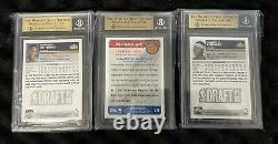 2003-04 Topps Basketball Carmelo Anthony Rookie Cards All BGS 9.5 Set Of 3 Cards