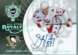 2007-08 Ud The Cup Sidney Crosby Auto All Star Royalty, One Time Set, 1/1
