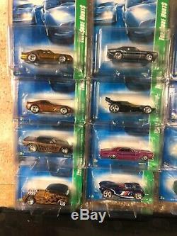 2008 Hot Wheels SUPER Treasure Hunt Complete Set ALL 12 on USA cards camaro bird