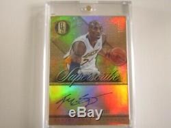 2012-13 Gold Standard SUPERSCRIBE Complete Set KOBE & 7x #ed/10 ALL ON-CARD $$$