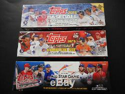 2015 Retail 2016 Hobby 2017 All-star Topps Baseball Factory Sealed Set Lot Of 3