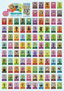 3DS Animal Crossing amiibo Card Vol. 3rd Edition All 100 Cards Complete Set JAPAN
