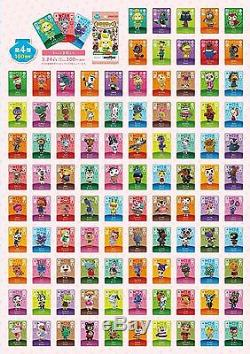 3DS Animal Crossing amiibo Card Vol. 4th Edition All 100 Cards Complete Set JAPAN