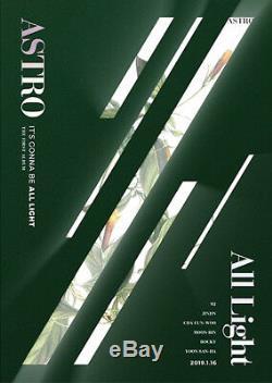 ASTRO ALL LIGHT 1st Album GREEN CD+POSTER+PBook+Post Card Set+Sticker+Card+etc