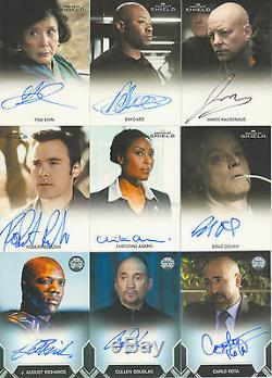 Agents of SHIELD 1 Complete Master Set ALL Autos, Relics, Gold Cards ++++