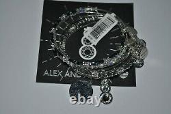 Alex & Ani Shiny Silver All That Glitters Bracelet Set of 5 NWT/card/BOX winter