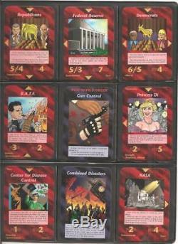 All 100 UnCommon Set with Box Illuminati INWO Card Game New World Order
