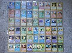 Base set shadowless set complete. All 102 cards. Charizard vg condition