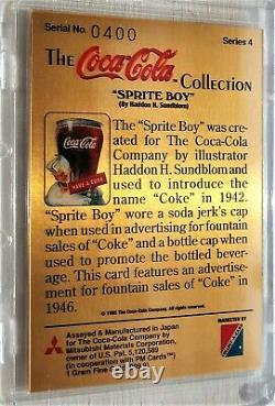 Coca Cola Set of 4 Gold Cards all with # 400 Serial Number Series 1,3,4, & SP
