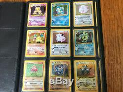 Complete Base Set Pokemon Cards 102/102 All Holos Included (exc-nm)