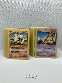Complete Base Set Rares Commons And Uncommons Vintage Pokemon Cards All Non Holo