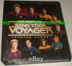 Complete Star Trek Voyager MASTER set 275 cards ALL SKETCHAFEX & AUTOGRAPH CARDS