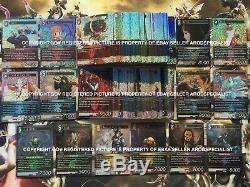 Final Fantasy TCG Lot Complete Foil Set All Opus 1 2 3 4 5 6 7 8 9 10 BV= $3106
